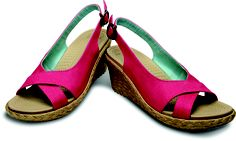 Bet you'd never guess that these linen wedge sandals are @Crocs Shoes Shoes Shoes!