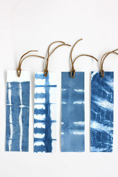 DIY Shibori Indigo Dye Bookmarks | alice & lois