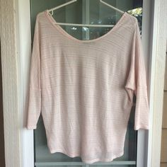 Papermoon Melissa Dolman Knit Top Stitch Fix EUC only worn twice! Beautiful light pink dolman top with flattering cut and fit! I wear with a blush or pink tank top under. Perfect spring color and looks great dressed up or down with a scarf and jeans or statement necklace and skirt! Papermoon Tops