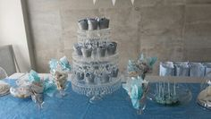 Baby boy baby shower  table