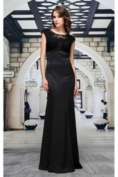 Společenské šaty Maren Luxusní šaty vhodné na plesy, večírky a jiné společenské události, které prostě musíte mít! Nádherné plesové šaty v klasické černé, v dokonalé štíhlé siluetě až na zem. Saténový lesk, vyztužený korzetový živůtek pošitý tylem se sklady a zdobený aplikacemi (výšivka a korálky), vzadu rafinovaný výstřih, zapínání na zip.