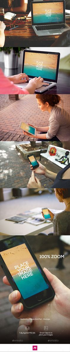 Macbook, iPhones and iPad - Mockups #design #mockup Download: http://graphicriver.net/item/macbook-iphones-and-ipad-mockups/12059810?ref=ksioks