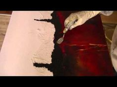 Abstrakte Malerei, Grillkohle, Painting abstract with charcoal - YouTube