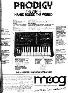 Moog Prodigy Ad