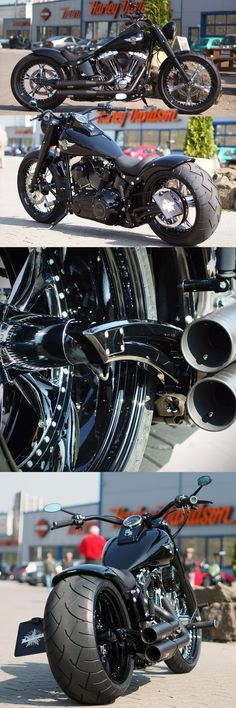 Thunderbike customized Harley-Davidson Fat Boy  So dope ! #harleydavidsongirlspictures #harleydavidsonbikes