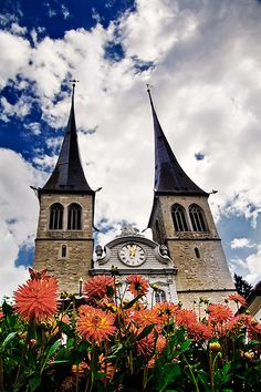 St. Leodegar Church in Lucern, Switzerland.  Go to www.YourTravelVideos.com or just click on photo for home videos and much more on sites like this.