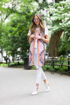 Washington Square Park - Vest: Hemant + Nandita / Jeans: Rag & Bone / Shoes: Givenchy / Tee: Feel The Piece / Bag: Chanel/ Sunnies: Wildfox June 8, 2016