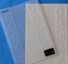 """COUTURE CREATIONS """"ANNALEE"""" ROMANTIQUE COLLECTION  5 x 7 EMBOSSING FOLDER #25"""