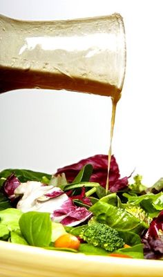 List of 102 Light Salad Dressings, with links to recipes! Since I make so many salads, this could help me change things up from the ones I usually make.