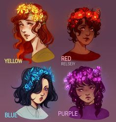 "Polubienia: 23.7 tys., komentarze: 541 – Reem (@relseiy) na Instagramie: ""Which is your fav flower crown? I've been in such a bad art block and the only thing that gave some…"""