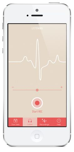 Fetal Heartbeat - iPhone App on Behance