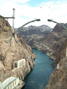 Bridge over the Colorado River as seen from the Hoover Dam