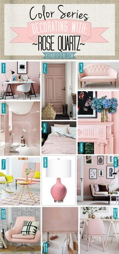 Decorating with Rose Quartz, pale pink, light pink, blush home décor. Pantone color of the year 2016 A Shade Of Teal Diy Home Decor, Room Decor, Home Decor Colors, Design Apartment, Home And Deco, My New Room, Colorful Decor, Home Decor Accessories, House Colors