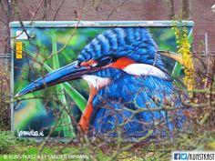 Kunstkast Sander Bosman Urban Street Art, 3d Street Art, Street Art Graffiti, Street Artists, Trash Bins, Box Art, Holland, Walls, Sketch