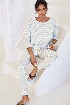 Buy Blue Stripe Jersey Pyjamas from the Next UK online shop