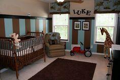 Really cute baby boy room!