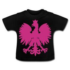 Polska Baby Shirt [Schwarz/Pink/Samtig] - Baby T-Shirt