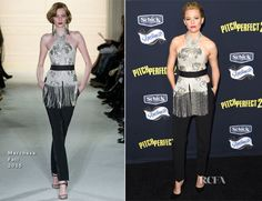 Elizabeth Banks In Marchesa – 'Pitch Perfect 2′ LA Premiere