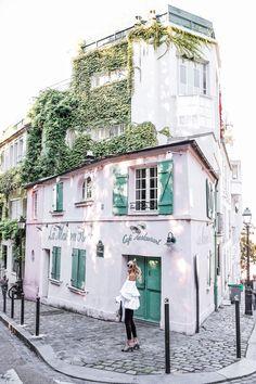 La Maison Rose | Streetstyle: Chanel pumps, Mavi jeans, ruffle top #ohhcouture #paris #leoniehanne