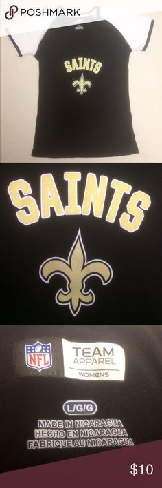New Orleans Saints - Women's NFL V-neck New Orleans Saints  🏈 Official NFL Apparel   Size Women's Large   Like new condition! NFL Tops Tees - Short Sleeve