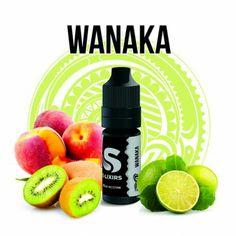 """""""Solana, wanaka"""" Pêche, kiwi, citron vert. PG/VG:50/50"""