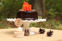 Cake at a Camping Party #camping #partycake
