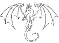 dragon line lineart easy drawings drawing sketch simple deviantart pencil moon draw sketches tattoo update fly eyes step clipart webcomicms