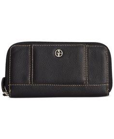 Giani Bernini Wallet, Softy Leather Banker - Wallets & Wristlets - Handbags & Accessories - Macy's