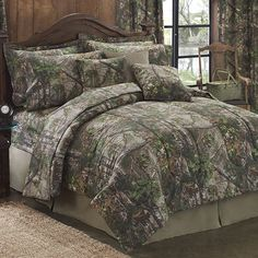 NEW Realtree XTRA Camo! Delectably Yours Realtree XTRA Green® Camo Bedding by Kimlor in Twin, XL Twin, Full, Queen, King and Cal King. Matching curtains and bath towels Camo Bedding, Green Comforter, Full Comforter Sets, Cheap Bedding Sets, Cheap Bed Sheets, Bedding Sets Online, Bed Sets, Rustic Bedding, Twin Comforter