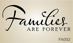 """Family Wall - Families are Forever Wall Decal - 22"""" Wide x 8.5"""" Tall http://designitwithvinyl.com/family-wall-vinyl-decals.html"""