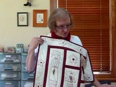 Lets Get Started on RedWork Stitchery by hand 5 - Chain Stitch - Quilting Tips & Techniques 046