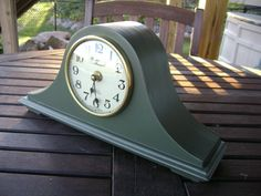 Vintage Strausbourg Manor Mantel Clock With Westminster Chime