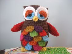 Mr. Hoot Amigurumi Owl Pattern Digital Download von AmyGaines
