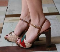 i just love that these shoes have high but sensibly stable heels yet reek glamour!  chie mihara
