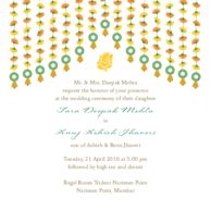 Wedding Invitations Marigold Strings Invitation