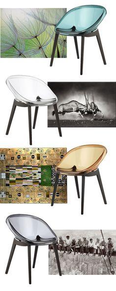 Stylische Stühle im modernen Stil.