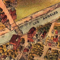 Elliott's #map of #LosAngeles, #California (1891)