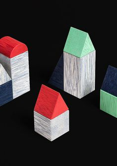 Tata Kids Design - Unconventional design for Kids Wooden Building Blocks, Color Theory, Wooden Toys, Cube, Coasters, Objects, Kids, Inspiration, Industrial Design