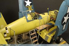 """""""F4U Corsair on assembly line"""" Vought F4U-1A Corsair, TAMIYA 1/48 scale. By Hubert Ortinger. #diorama"""
