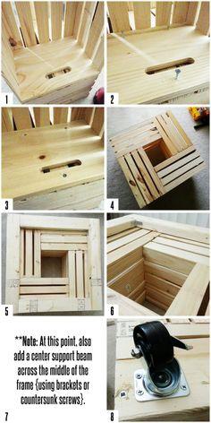 Etape par étape • Table palettes