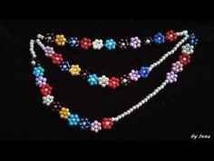 Beaded necklace. You won't believe how easy this pattern is. Step by step tutorial - YouTube
