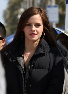 Filming The Bling Ring - LOVE her with dark hair!!!!