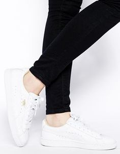 Trendy Women's Sneakers :   Puma White Basket Classic LFS Sneakers    - #Women'sshoes