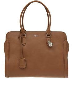 Alexander McQueen Tan Large Padlock Zip-Around Leather Bag   Accessories   Liberty.co.uk