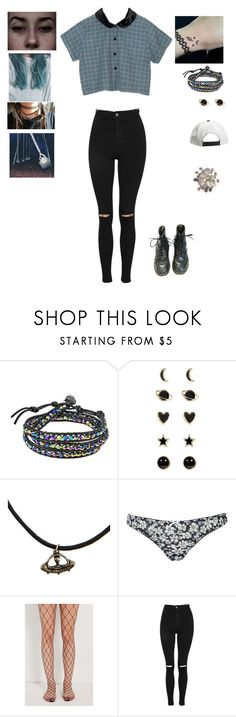 """""""Untitled #115"""" by tori-is-trash ❤ liked on Polyvore featuring AeraVida, Accessorize, Hot Topic, Sebastian Professional, Topshop, Out From Under and Motel"""