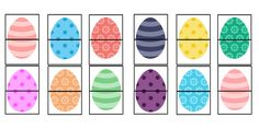 Find many ways to play with this easter egg games printable! We will definitely be using these for our busy bags when we travel for Easter! In the meantime, my toddler loves playing memory with these eggs!