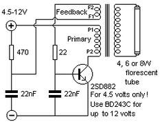 This simple 20 watt home emergency tube light circuit uses