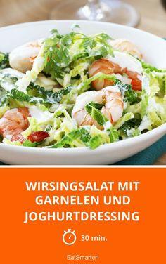 Wirsingsalat mit Garnelen und Joghurtdressing - smarter - Zeit: 30 Min.   eatsmarter.de