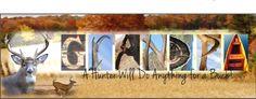 "Personalized ""Deer Hunter"" Themed"" Panoramic 8"" x 20"" Framed Letter Art Print"