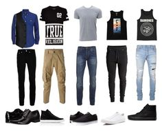 """""""squad """"future husbands"""" I guess not really"""" by jazzjohnson-1 on Polyvore featuring Topman, Emporio Armani, Dsquared2, True Religion, Common Projects, Scotch & Soda, Lakai, Converse, Cali's Finest and Balmain"""